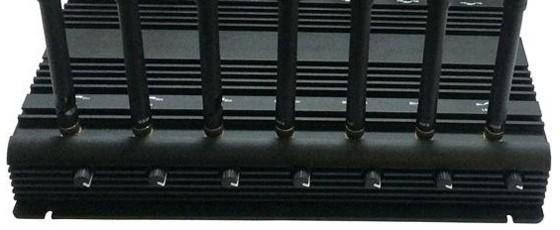 Каждая из 14-ти антенн блокиратора имеет свой регулятор мощности