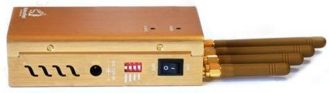 Включатели подавляемых диапазонов, тумблер включения прибора и разъем питания помещены на одну сторону корпуса подавителя сотовых телефонов BugHunter BP-12D