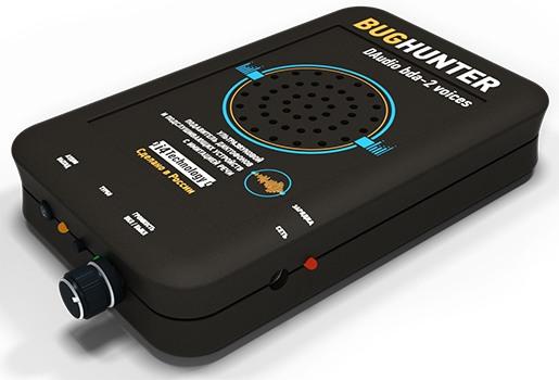 """Блокиратор прослушивающих устройств модели """"BugHunter DAudio bda-2 Voices"""" имеет стильный внешний вид. Дизайн прибора продуман до мелочей"""