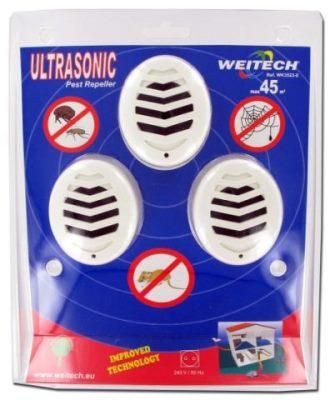 """Комплект из 3 ультразвуковых отпугивателей грызунов, крыс, мышей, тараканов """"Weitech WK3523"""" в упаковке"""