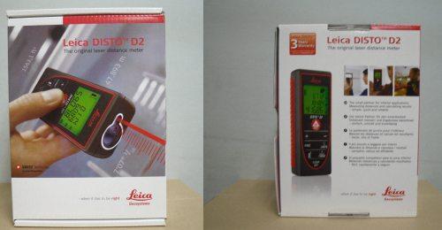 """Так выглядит фирменная картонная коробка лазерного дальномера """"Leica Disto D2"""""""