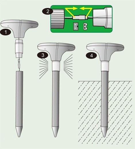 Отпугиватель кротов Гром-Про LED+ имеет разборную конструкцию, что позволит при необходимости заменить батареи и продлить срок службы устройства