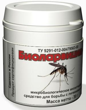 30-граммовой баночки Биоларвицид достаточно для уничтожения личинок комаров на 3-х сотках поверхности водоема или земельного участка
