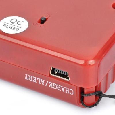 Кнопка включения ультразвукового отпугивателя собак ГРОМ-250 находится на тыльной стороне устройства, а miniUSB-разъем для зарядки и охранного кабеля на боковой стороне