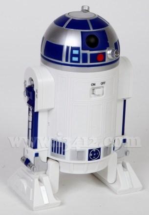 Кнопка включения/выключения находится на спине дроида (тыльной стороне планетария)