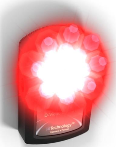 """Яркие светодиоды детектора """"BugHunter Dvideo Эконом"""" вызывают блики на объективах жучков независимо от того, включена скрытая камера или нет"""