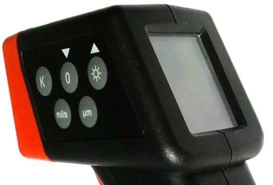 """Толщиномер автомобильный """"ET-11P"""" — большой и четкий дисплей, удобное расположение органов управления"""
