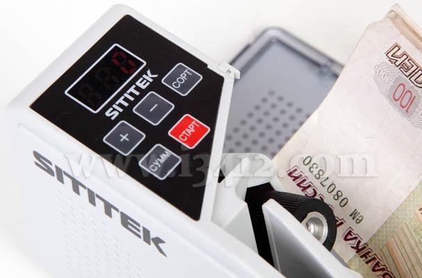 """Счетчик банкнот SITITEK """"V40-M"""" professional пересчитывает пачку банкнот в 100 листов за 7 секунд"""