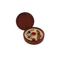"""Набор для вина """"Сомелье №8"""", деревянный футляр, 4 предметов (арт. 00159)"""