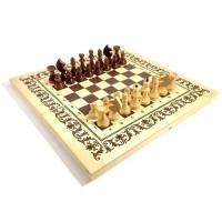 Шахматы три в одном лак (CHN414)